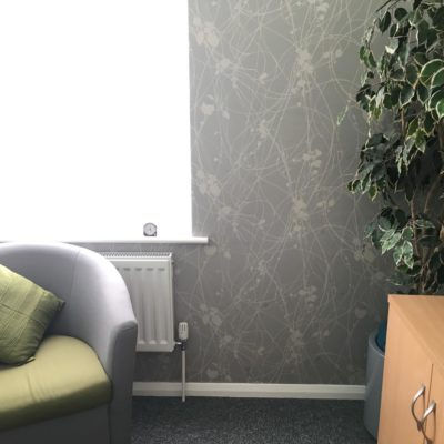 Here are the beautiful therapy rooms at our head office on Mersea Road in Colchester. Safe environments for people to work with their therapist, counsellor or worker.