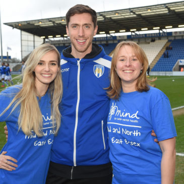 Mid and North East Essex Mind scores support from Colchester United Football Club