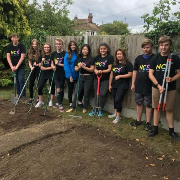NCS students support new allotment project at Mid and North East Essex Mind
